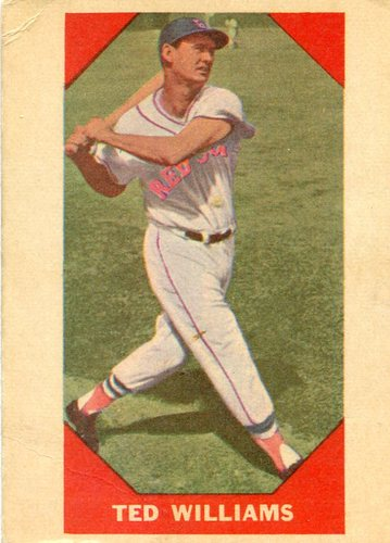 Photo of 1960 Fleer #72 Ted Williams -- Hall of Fame Class of 1966