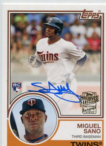Photo of 2016 Topps Archives 65th Anniversary Rookie Autographs  Miguel Sano
