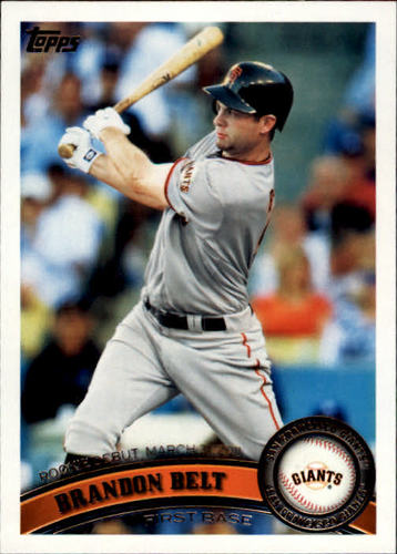 Photo of 2011 Topps Update #US83 Brandon Belt Rookie Card
