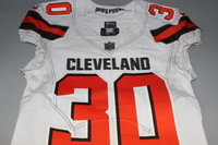 CRUCIAL CATCH - BROWNS JASON MCCOURTY GAME WORN BROWNS JERSEY (OCTOBER 8, 2017) SIZE 40