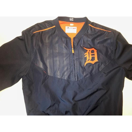 Photo of Team-Issued #92 Home Batting Practice Jacket
