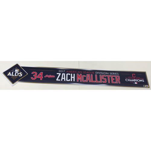 Photo of Zach McAllister Team-Issued 2017 ALDS Locker Name Plate