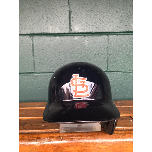 Photo of Cardinals Authentics: Stephen Piscotty Team Issued Road Navy Helmet