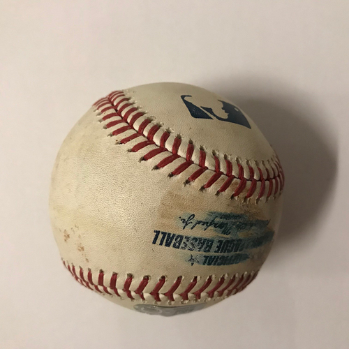 Photo of Freddie Freeman Game Used Hit Single Ball - May 29, 2018