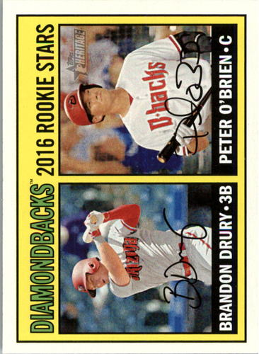Photo of 2016 Topps Heritage #162 Peter O'Brien RC/Brandon Drury RC