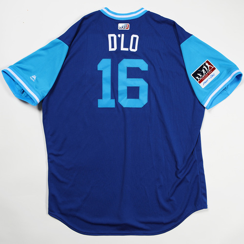 "Photo of Demarlo ""D'Lo"" Hale Toronto Blue Jays Team Issued Jersey 2018 Players' Weekend Jersey"