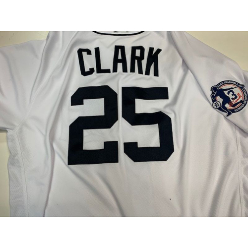 Photo of Game-used Alan Trammell Retirement Day Jersey: Dave Clark