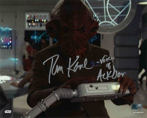 PREORDER Tom Kane As Admiral Ackbar 8x10 Autographed in Blue Ink