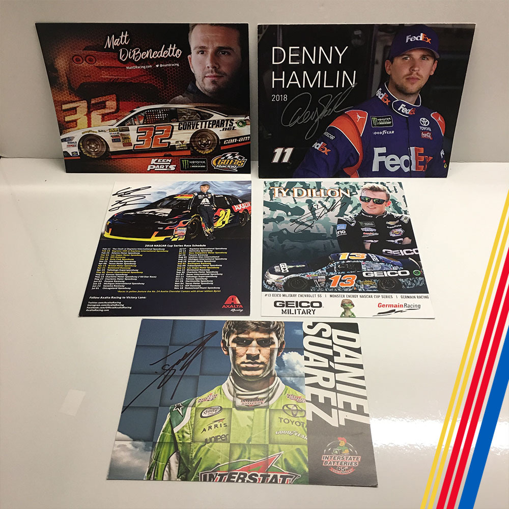 NASCAR's MENCS Autographed Hero Cards!