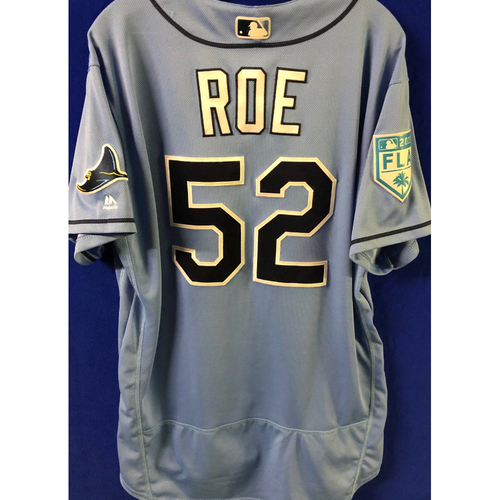 Photo of Game Used Spring Training Jersey: Chaz Roe - March 26, 2019 v DET