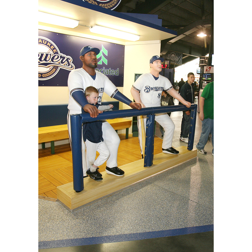 Photo of Ryan Braun and Prince Fielder Miller Park 6' Tall Statues - LOCAL PICKUP ONLY