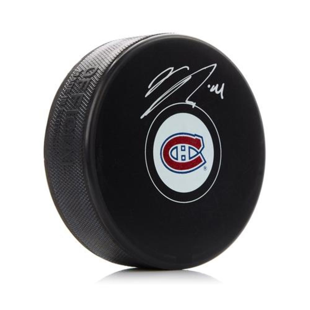 Nick Suzuki Montreal Canadiens Signed Autograph Model Hockey Puck