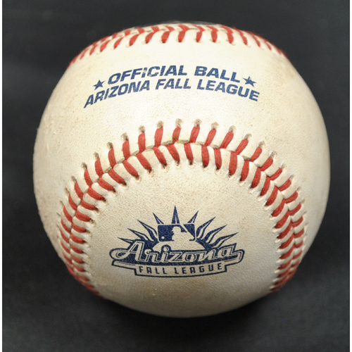 Photo of Game-Used Baseball: 2019 Arizona Fall League - Pitcher: Frank Rubio (SFG), Batter: Elehuris Montero (STL) - RBI Single - Bot 7 - 10/6/2019