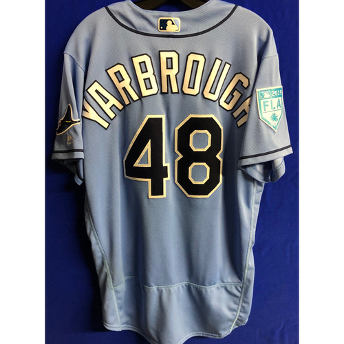 Photo of Game Used Spring Training Jersey: Ryan Yarbrough - March 26, 2019 v DET