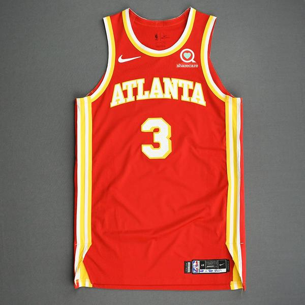Image of Kevin Huerter - Atlanta Hawks - Game-Worn Icon Edition Jersey - 2020-21 NBA Season