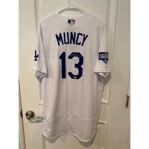 Photo of Max Muncy Autographed Authentic Los Angeles Dodgers Jersey
