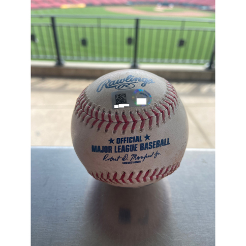 Photo of Cardinals Authentics: Game Used Baseball Pitched by Carlos Martinez to Ian Happ *Single*