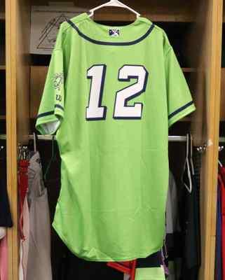 Stockton Ports Hunter Breault Asparagus jersey, #12, Size 48