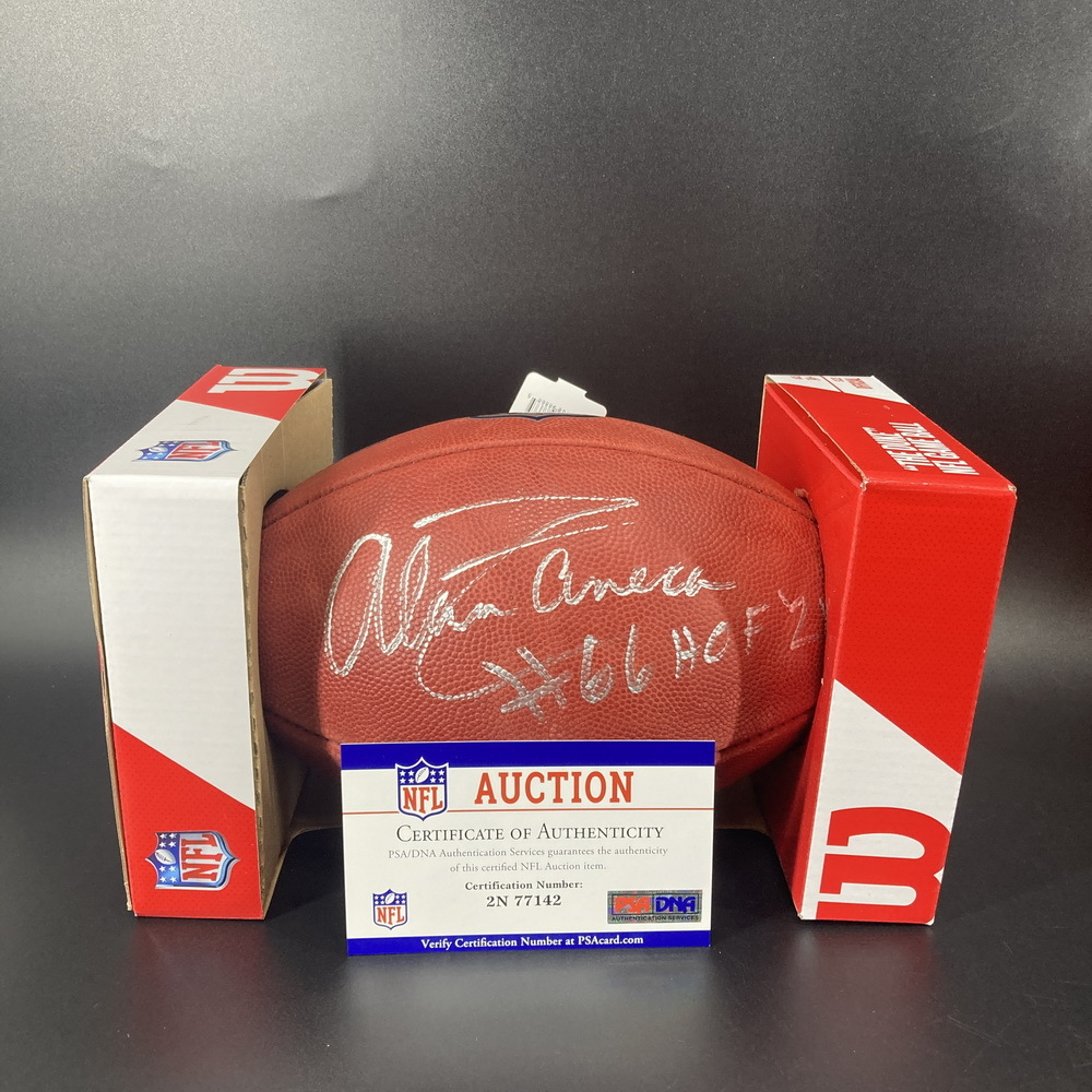 HOF - Steelers Alan Faneca Signed Authentic Football with