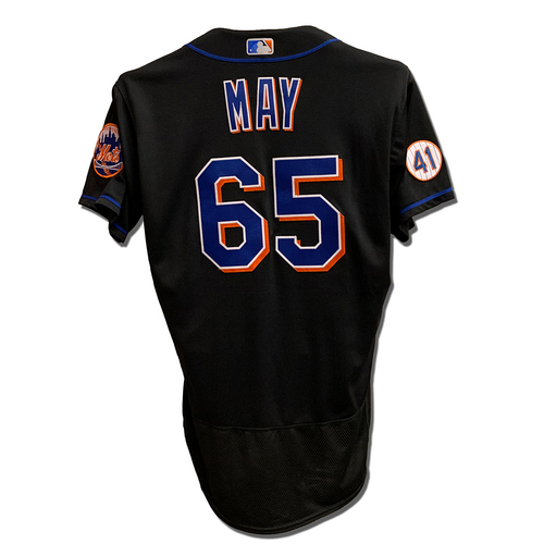 Photo of Trevor May #65 - 1 IP, 3 K's - Game Used Black Jersey with Seaver Patch - Mets vs. Yankees - 9/10/21 - Also Worn 7/30/21
