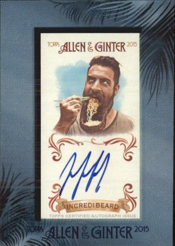 Photo of 2015 Topps Allen and Ginter Framed Mini Autographs #AGAIW Incredibeard