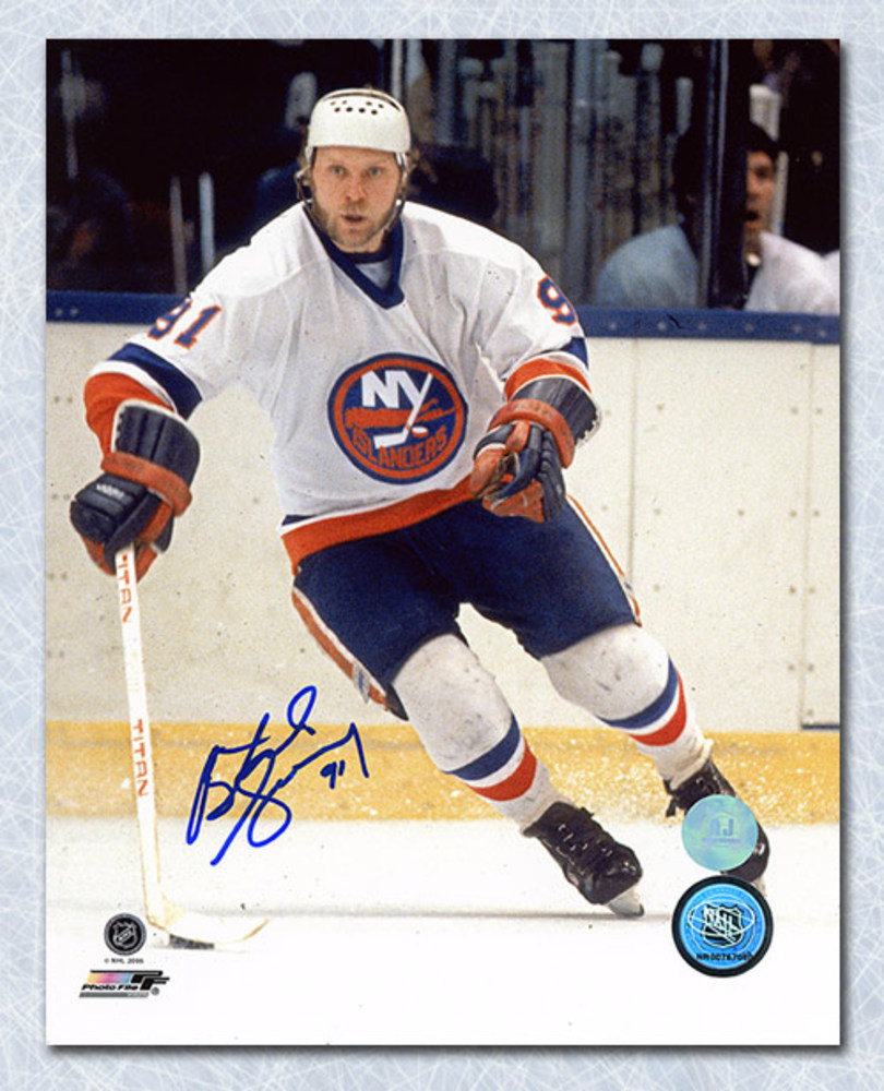 Butch Goring New York Islanders Autographed Action 8x10 Photo