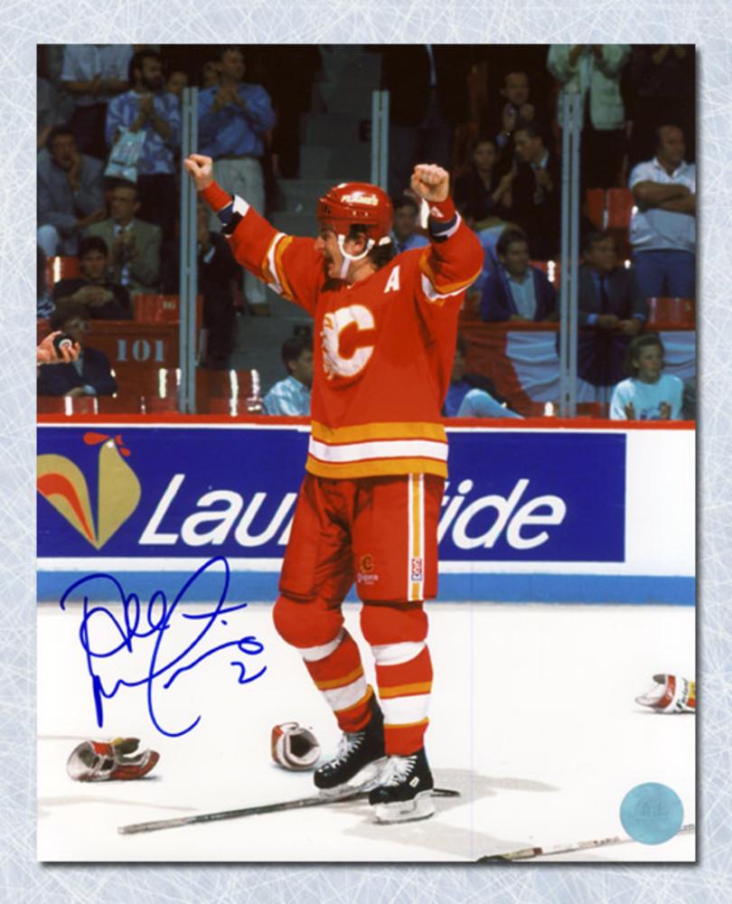 Al MacInnis Calgary Flames Autographed Stanley Cup Celebration 16x20 Photo