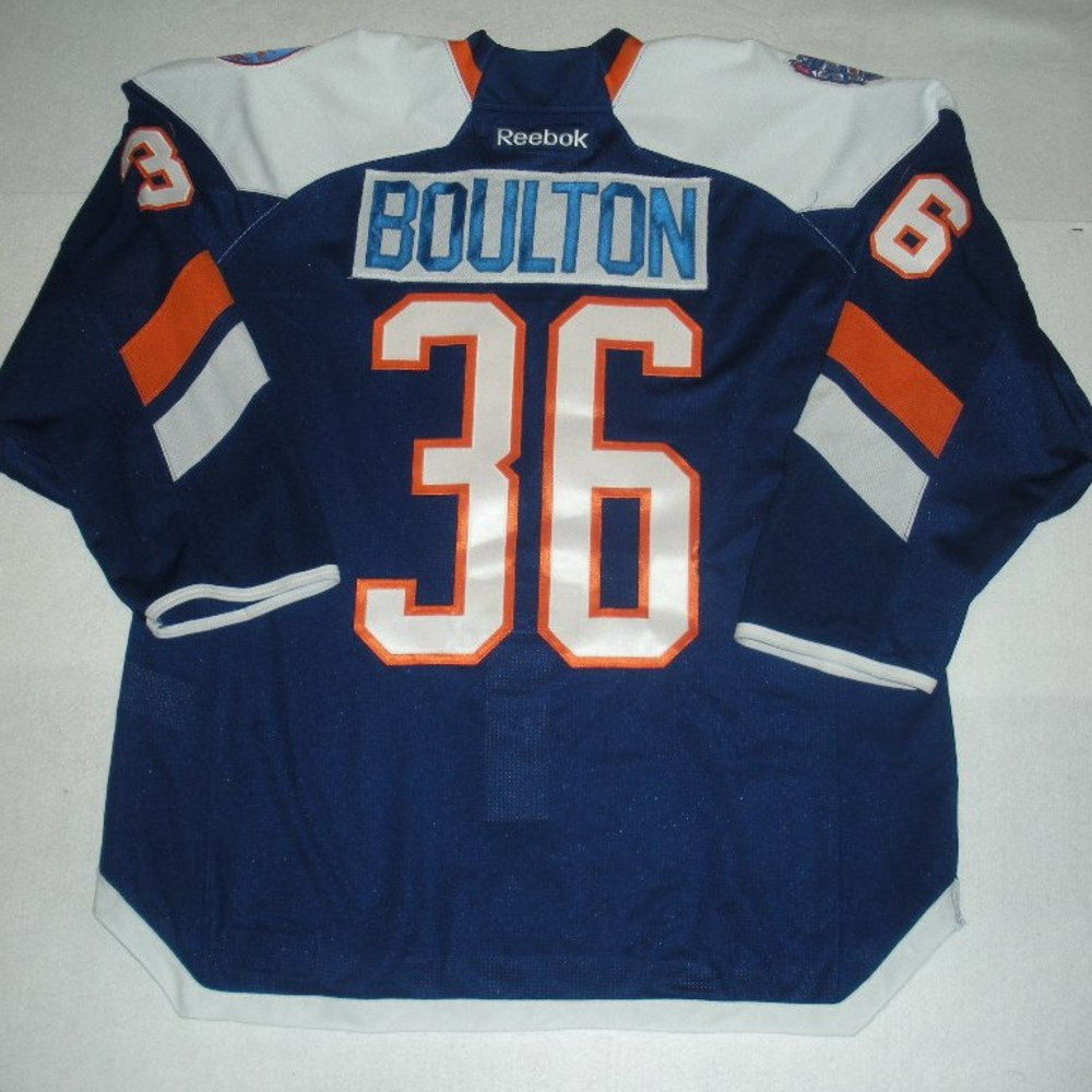 Eric Boulton - 2014 Stadium Series - New York Islanders - Blue Game-Issued Jersey - First Period