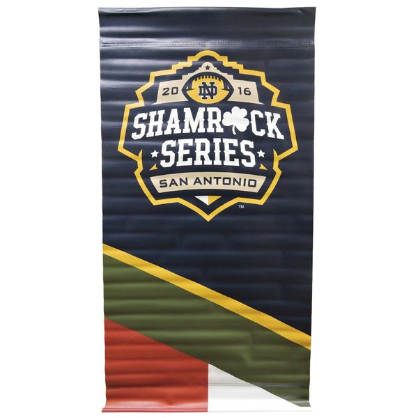 Photo of 2016 Notre Dame Football Shamrock Series Street Pole Banner (M)