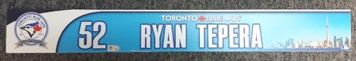 Photo of Authenticated Team Issued 2016 (40th Anniversary Season) Locker Nameplate - #52 Ryan Tepera