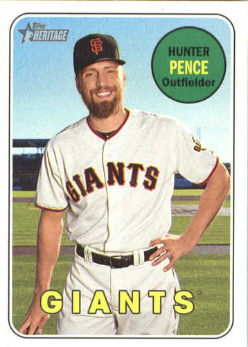 Photo of 2018 Topps Heritage #257 Hunter Pence