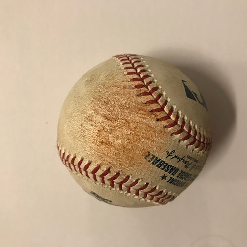 Photo of Nick Markakis Game Used Hit Double Ball - May 18, 2018