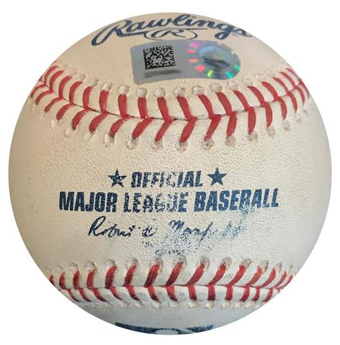 Photo of Game-Used Baseball from Pirates vs. Cubs on 8/1/18 - Ian Happ Hit by Pitch