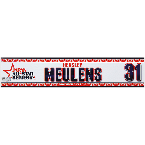 Photo of 2018 Japan Series Game-Used Locker Tag - Hensley Meulens - Giants
