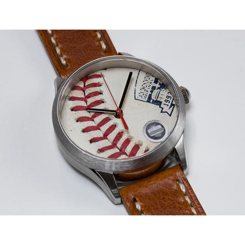 Photo of Tokens & Icons Atlanta Braves Final Season at Turner Field Game Used Baseball Watch