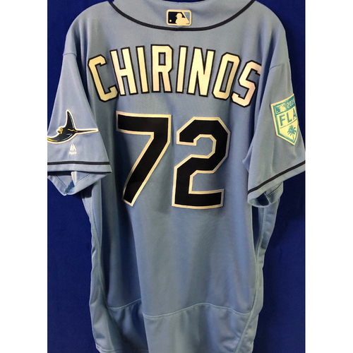 Photo of Game Used Spring Training Jersey: Yonny Chirinos - March 26, 2019 v DET