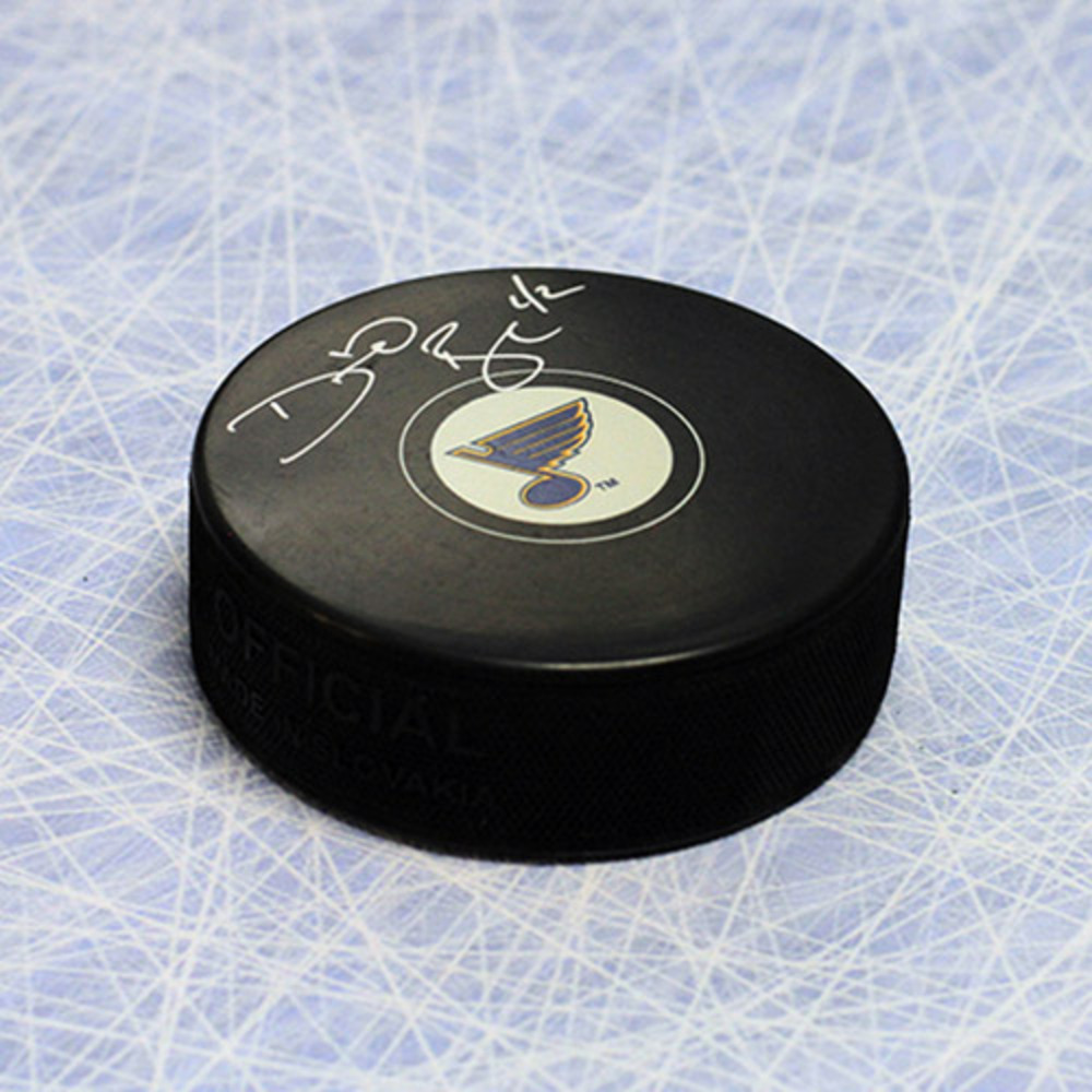 David Backes St. Louis Blues Autographed Hockey Puck *Boston Bruins*