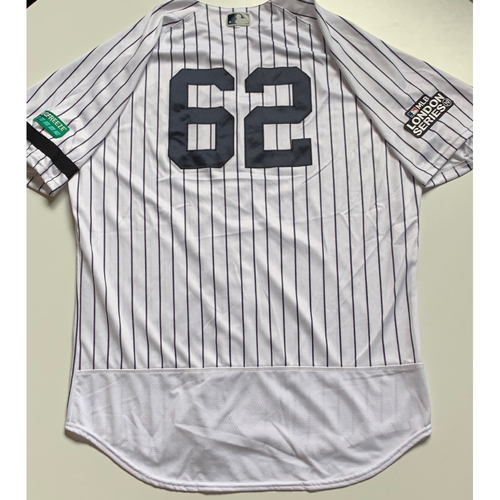 Photo of 2019 London Series - Game-Used Jersey - Marcus Thames, New York Yankees vs Boston Red Sox - 6/29/19
