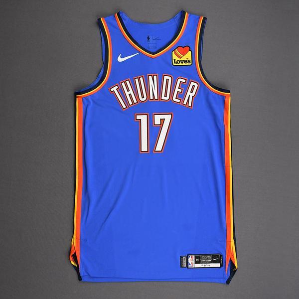 Image of Dennis Schroder - Oklahoma City Thunder - Game-Worn Icon Edition Jersey - 2019-20 Season