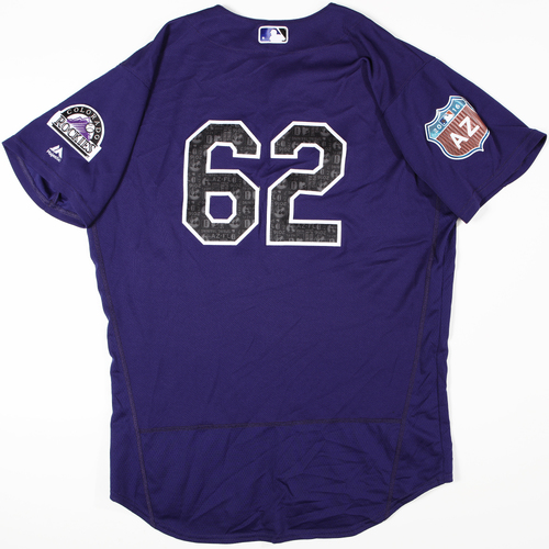 Photo of 2016 Spring Training - Spring Training Game Used Jersey - Germen Gonzalez (Rockies)- Size- 46
