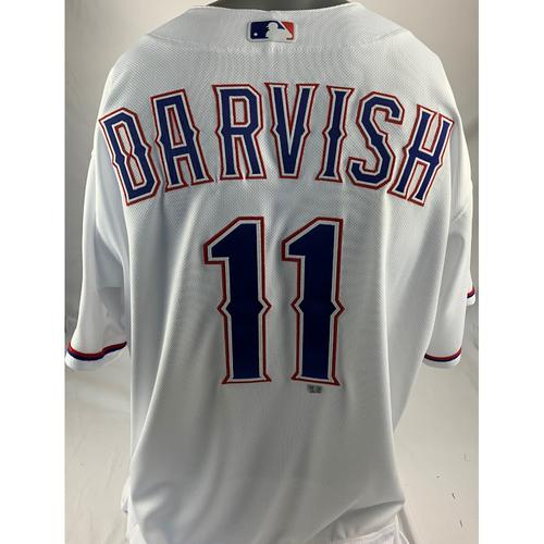 Photo of Team-Issued White Jersey - Yu Darvish