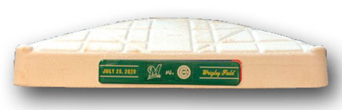 Game-Used 3rd Base -- Used in Innings 5 through 9 -- On-Field for Schwarber 2-Run HR (1st of Season) -- Brewers vs. Cubs -- 7/25/20