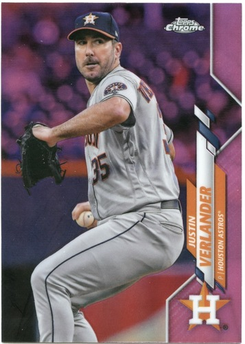 Photo of 2020 Topps Chrome Pink Refractors #164 Justin Verlander