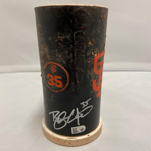 #35 Brandon Crawford 2020 Autographed Bat Weight