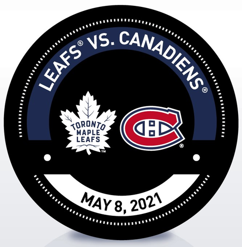 Used Warm-Up Puck 5/8/21 vs MTL (Clinched North Division)