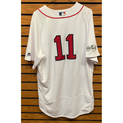 Photo of Rafael Devers October 8, 2017 Game Used Home Jersey - 2 for 3, Home Run, 3 RBIs - ALDS Game 3