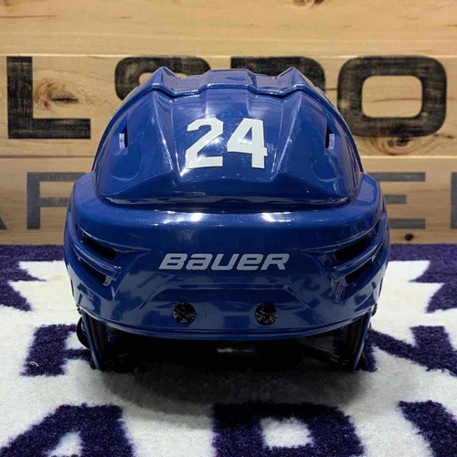 #24 Brian Boyle Game Worn Helmet (100th)