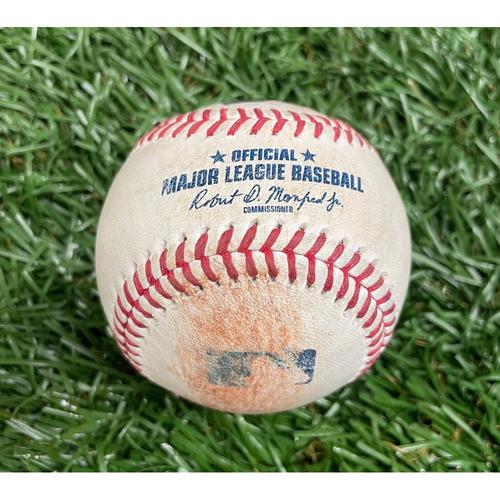 Photo of Game Used Baseball: Dallas Keuchel strikes out Randy Arozarena - Nelson Cruz single off Dallas Keuchel - Bottom 1 - August 21, 2021 v CWS