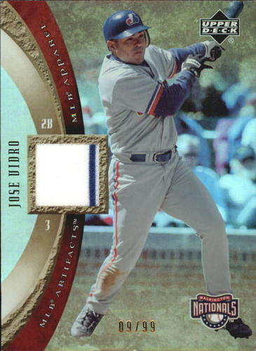 Photo of 2005 Artifacts MLB Apparel Rainbow #JV Jose Vidro Jsy/99