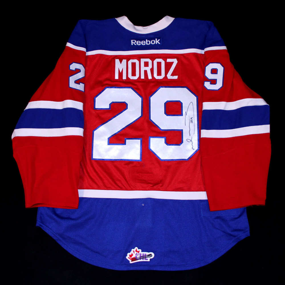 Mitch Moroz #29 - Autographed 2013-14 Edmonton Oil Kings WHL Regular Season, WHL League Championship & CHL Memorial Cup Game Worn Red RBK Jersey